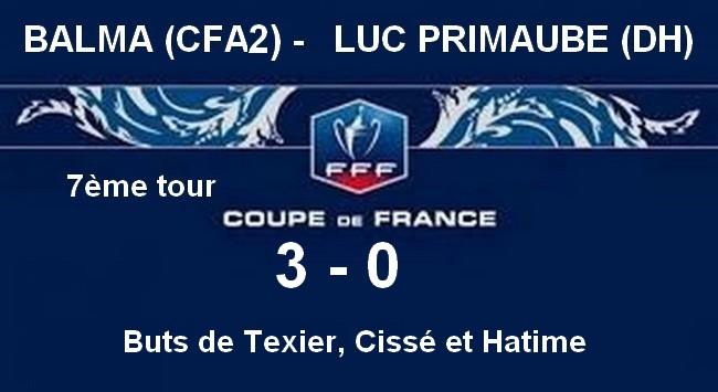 Cdf 7 me tour place au 8 me tour balma sporting club - Resultat coupe de france 7eme tour ...